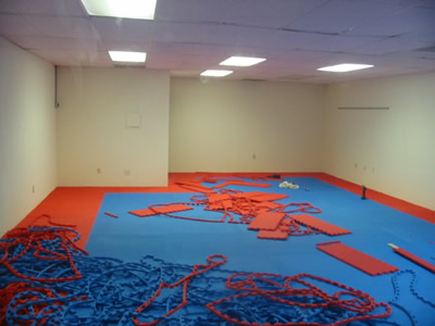 all mats down... time for final clean up!